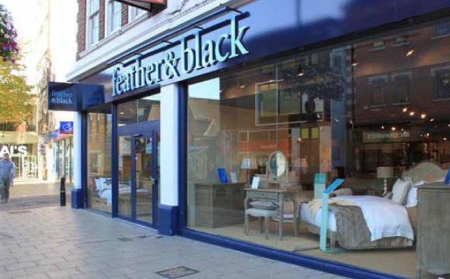 feather black innes england. Black Bedroom Furniture Sets. Home Design Ideas