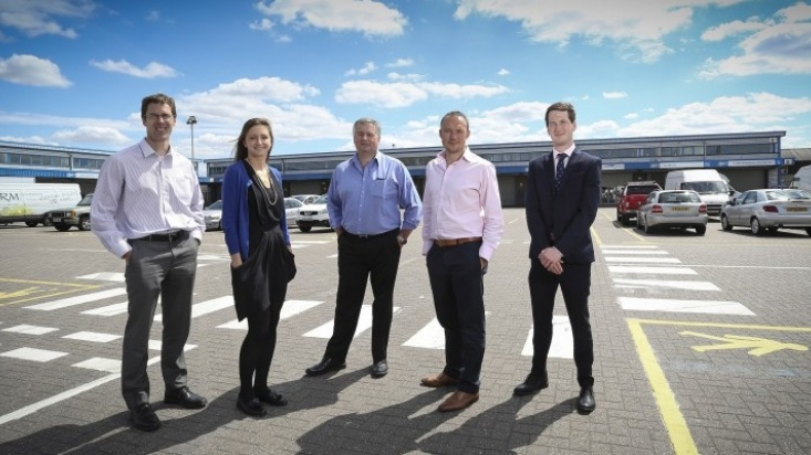 From Left Greg Hunt, Sara Batchelor, Nick Arnold, Jonathan Hodgson and Giles Davis At the Wholesale District.