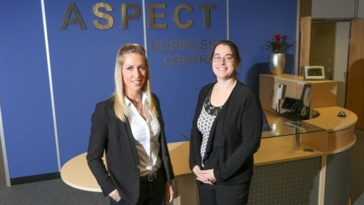 L-r Laura Jardine of Innes England with Jaclyn Chester, Rushcliffe Developments