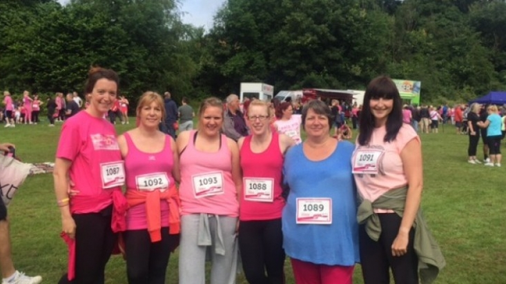 Innes England's Race for Life Derby team