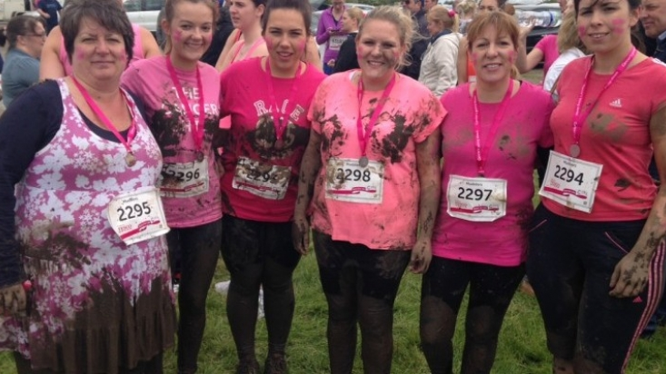 Innes England's Pretty Muddy team