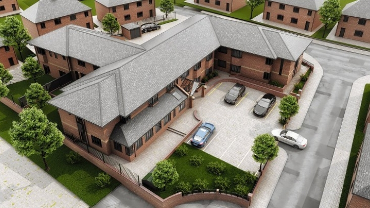 External CGI of proposed flats at Millbeck House Arnold
