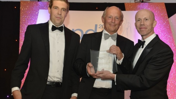 Property Deal of the Year: Stuart Waite and Robert Hartley of Innes England with Darren Williamson of sponsor Freeths