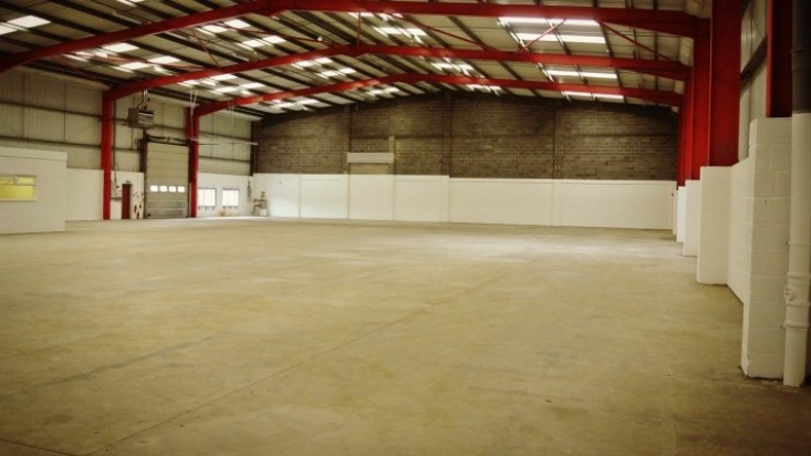 Interior of ArtSystems' new industrial space at Glaisdale Pint in Bilborough