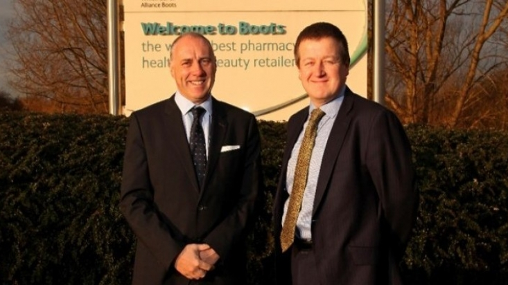 Tim Garratt of Innes England with Mark Chivers of Boots