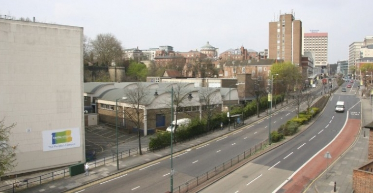 Castle College site on Maid Marian Way, Nottingham