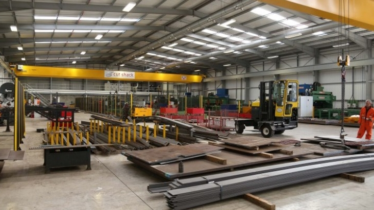 Caunton Engineering's new Cut Shack facility at Moorgreen Industrial Park, Newthorpe