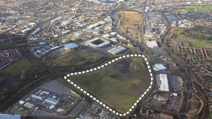 The 70 acre Derby Triangle regeneration site