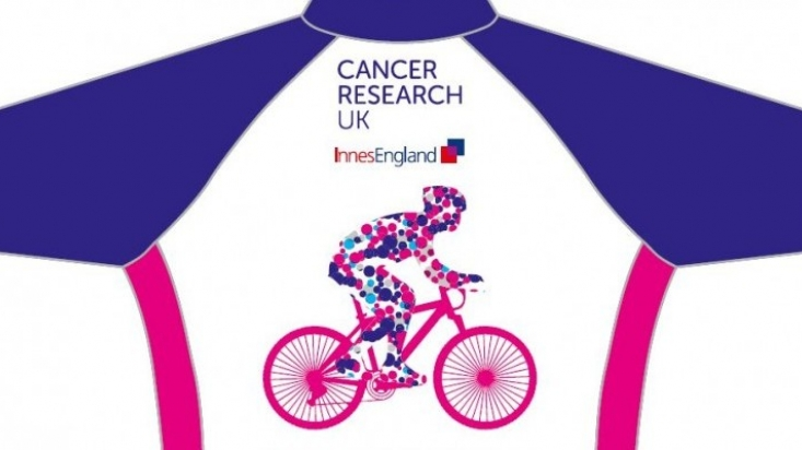 Innes England is fundraising for CRUK in a charity ride from Nottingham to Skegness