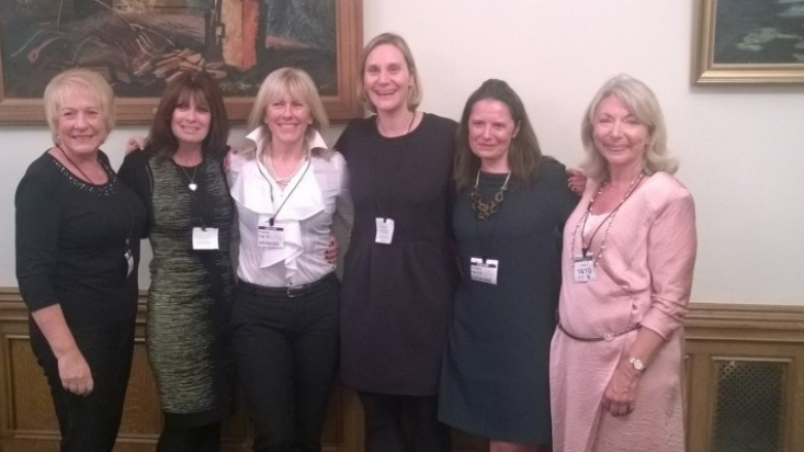 Maggie's Nottingham team at the House of Commons fundraising event