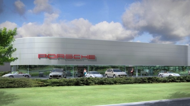 Proposed new Porsche centre in Wolverhampton