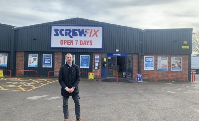 Innes England helps Screwfix open new store in East Midlands